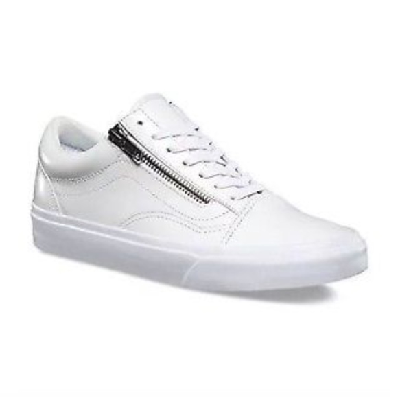 7ad9d126ea28c Vans Womens Old Skool Zip DX Smooth Leather True